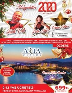 Aria Claros Beach & Spa Resort Özdere İzmir Yılbaşı 2019