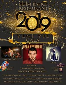 Bizim Bahçe Gaziemir İzmir Yılbaşı 2019