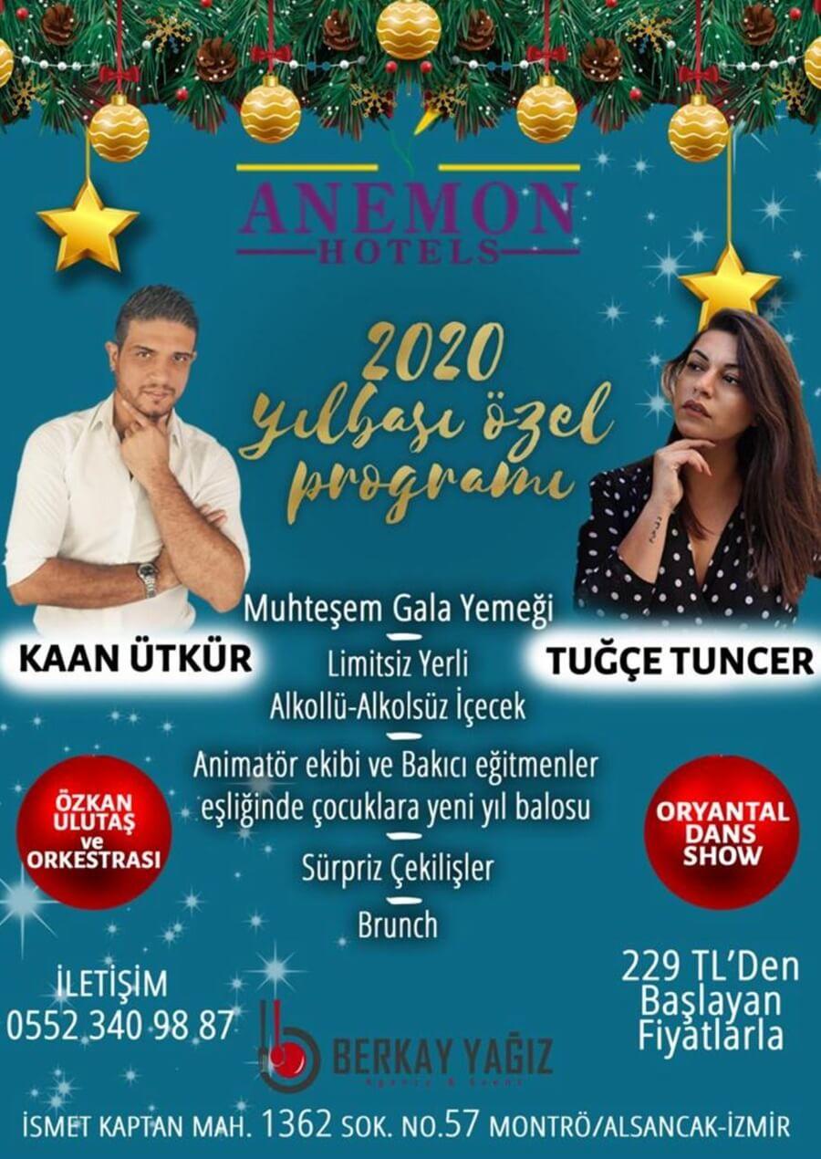 Anemon Fuar Hotel İzmir Yılbaşı Programı 2020