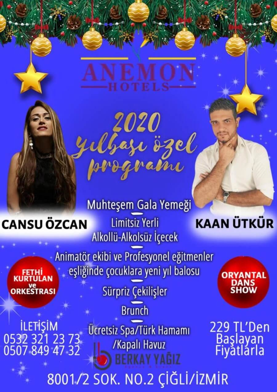 Anemon Hotel Çiğli Yılbaşı Programı 2020