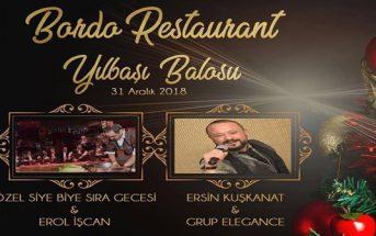 Bordo Restaurant Narlıdere Yılbaşı 2019