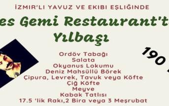 Efes Gemi Restaurant Karşıyaka Yılbaşı Programı 2020