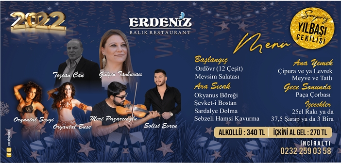 Erdeniz Restaurant İnciraltı Yılbaşı 2020