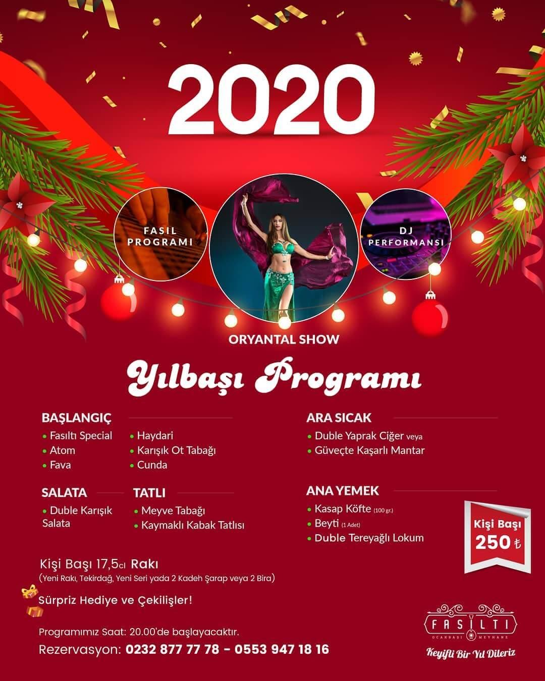Fasıltı Meyhanesi İzmir Yılbaşı Programı 2020