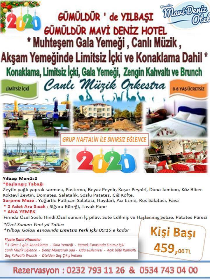 Gümüldür Mavi Deniz Otel Yılbaşı Programı 2019