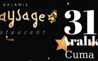Kalamış Paysage Restaurant Kadıköy Yılbaşı 2020