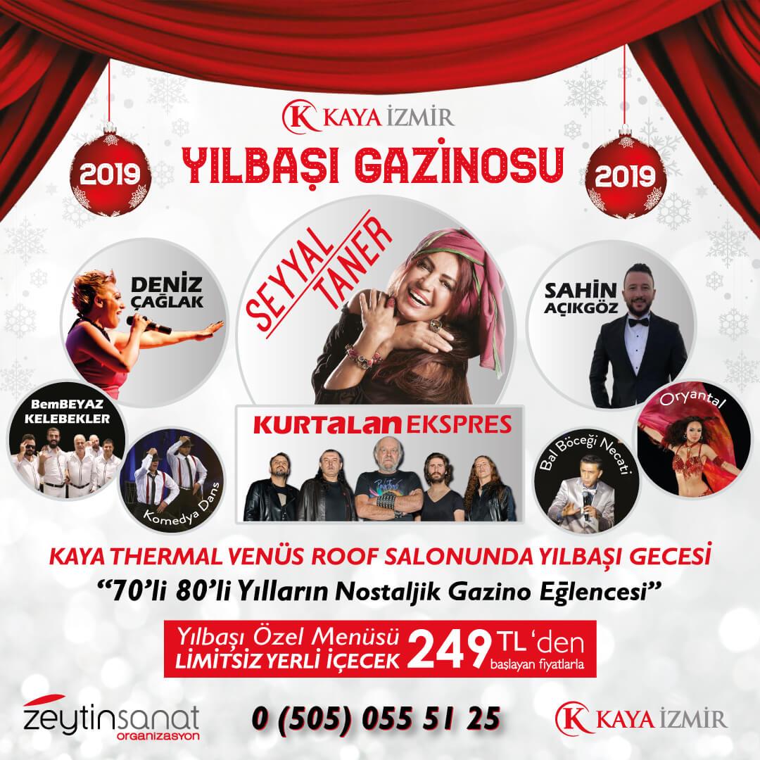 Kaya Termal Hotel İzmir Nostaljik Yılbaşı Gazinosu Programı 2019