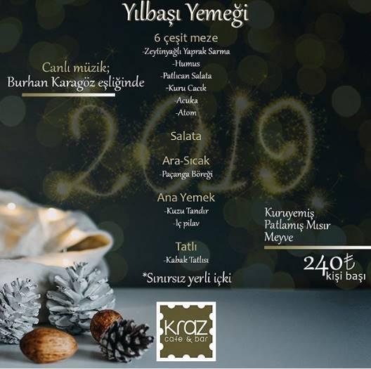 Kraz Cafe Bar Ankara Yılbaşı Programı 2019