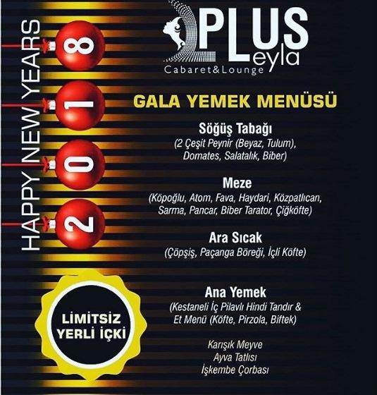 Plus Leyla İzmir Yılbaşı Menüsü