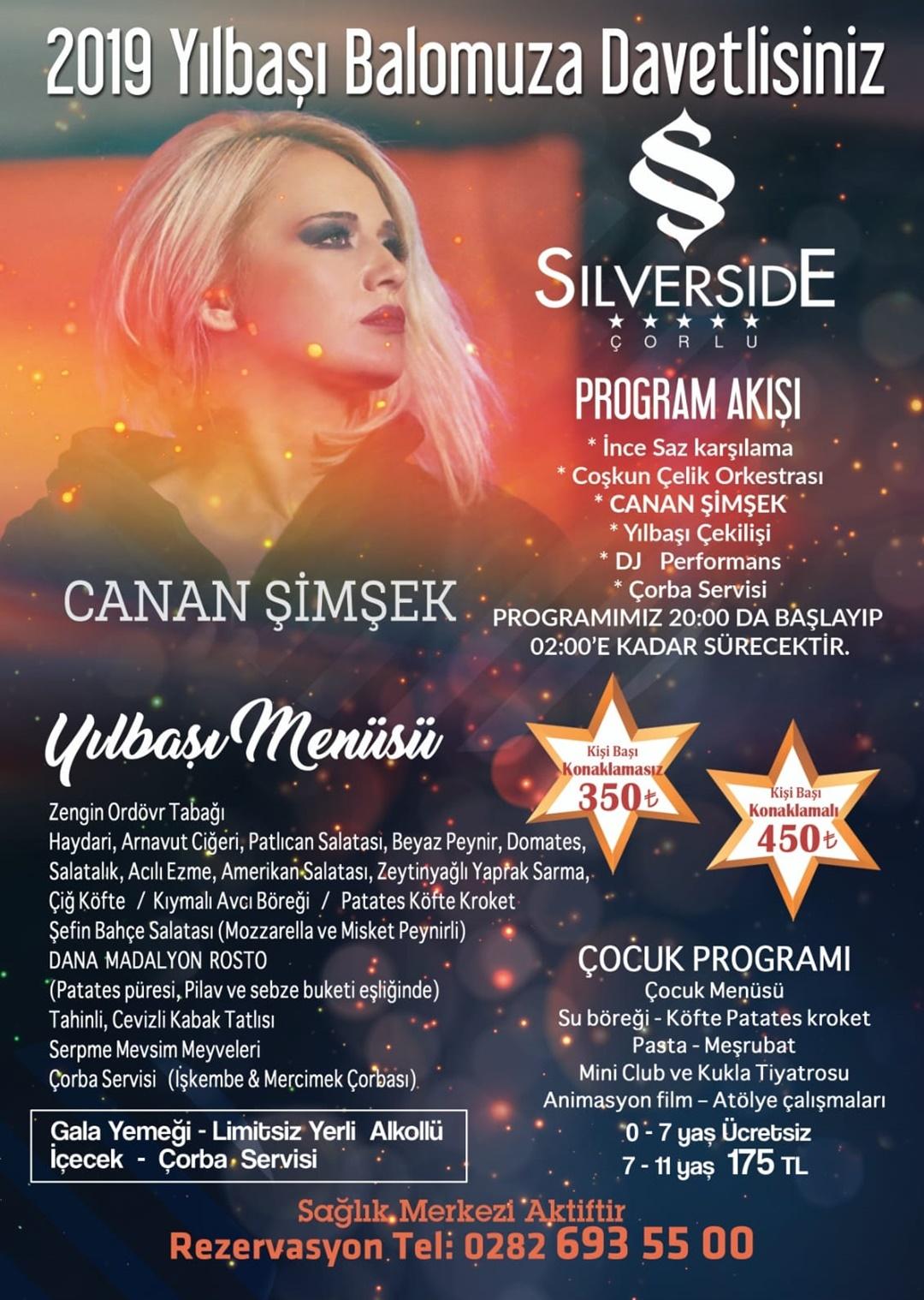 Silverside Hotel Çorlu Yılbaşı Programı 2020