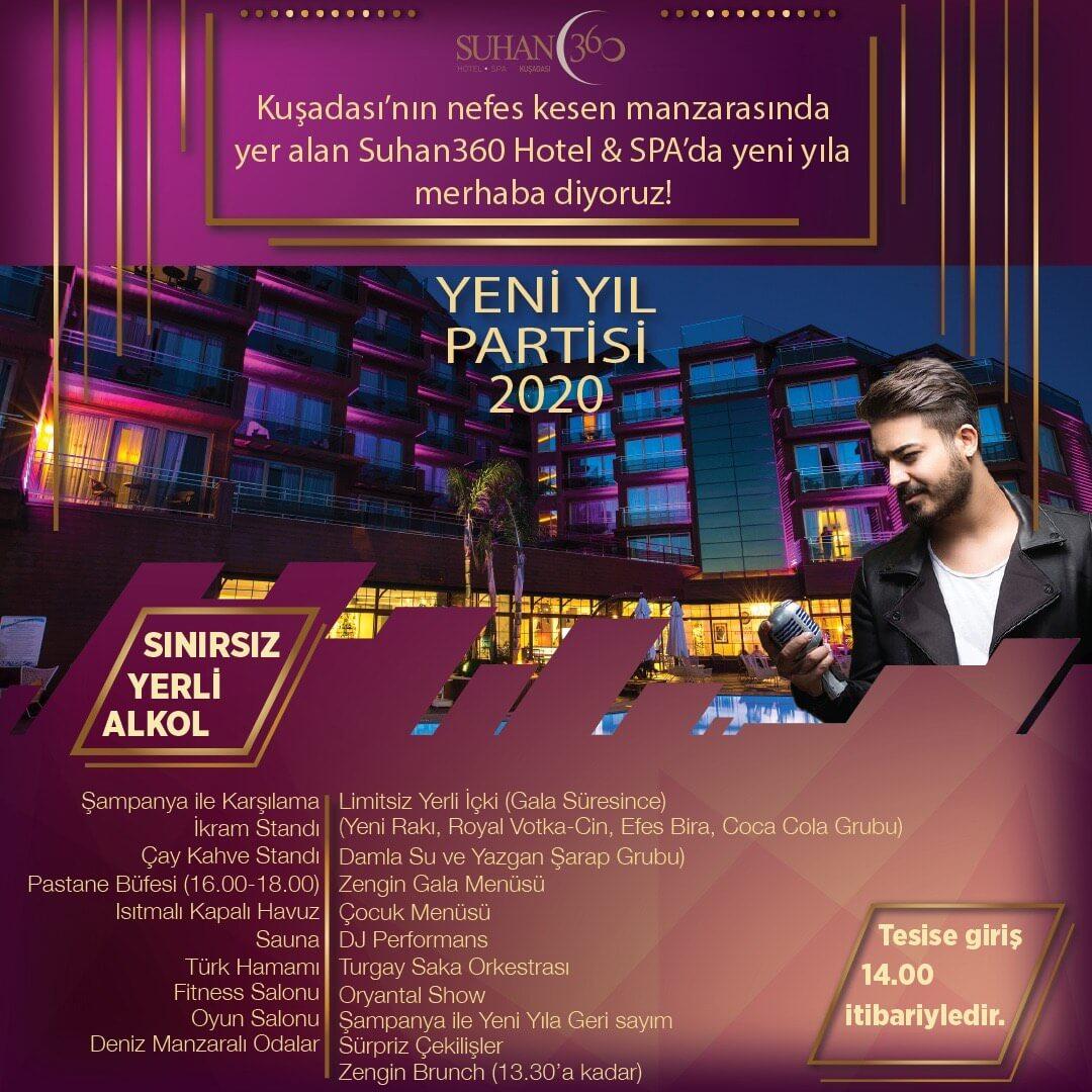 Suhan360 Hotel & Spa Kuşadası Yılbaşı Programı 2020