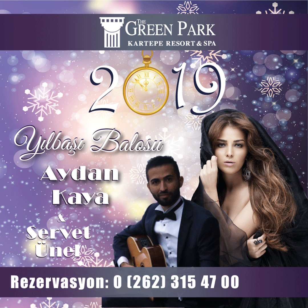 The Green Park Kartepe Resort & SPA Yılbaşı Menüsü 2019