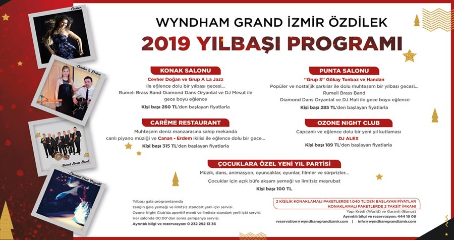 Wyndham Grand İzmir Özdilek Yılbaşı Programı 2019