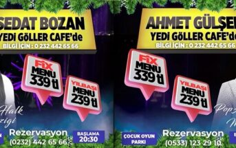 Yedigöller Cafe Buca İzmir Yılbaşı 2019